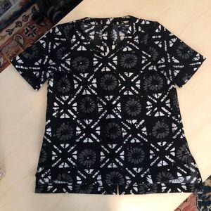 Madewell Printed Top | XS | Black
